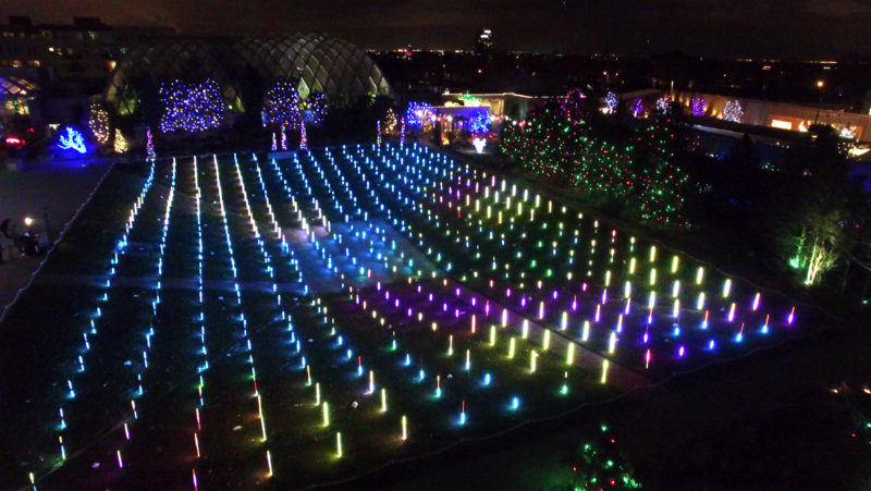 Denver Botanic Gardens Blossoms Of Light Lumenscape Audiopixel